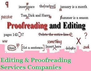 Editing & Proofreading Services Companies