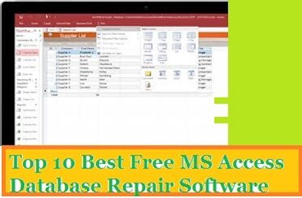 Top 10 Best Free MS Access Repair Software
