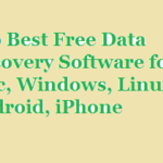 Data Recovery Software- Free Download Best Data Recovery Software for Mac, Windows, Android, iPhone, Linux